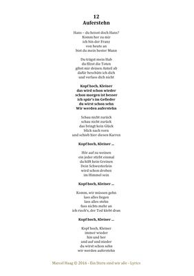 Auferstehen by Marcel Haag - Lyrics