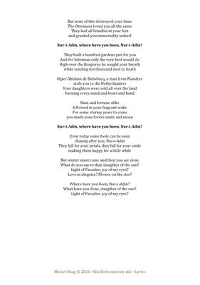 Nur-i-Adin 2 by Marcel Haag - Lyrics