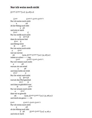 Nur ich weiss noch nicht by Marcel Haag - Lyrics and Chords