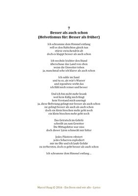 Besser als auch schon by Marcel Haag - Lyrics