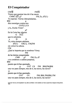 El Conquistador by Daniel Levi/Marcel Haag - Lyrics and Chords