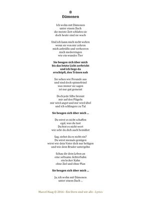 Dämonen by Marcel Haag - Lyrics