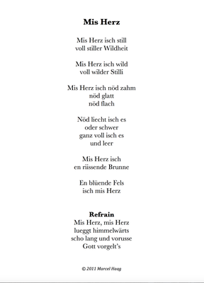 Mis Herz by Marcel Haag - Lyrics