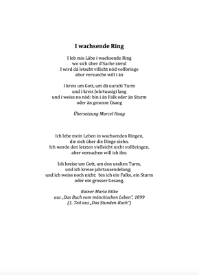 I wachsende Ring by Marcel Haag - Lyrics