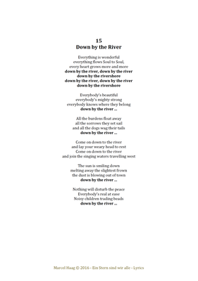 Down by the River by Marcel Haag - Lyrics