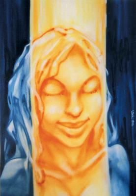 Bild auf Auftrag für Kunde. Spraydose auf Leinwand, 120 cm x 100 cm
