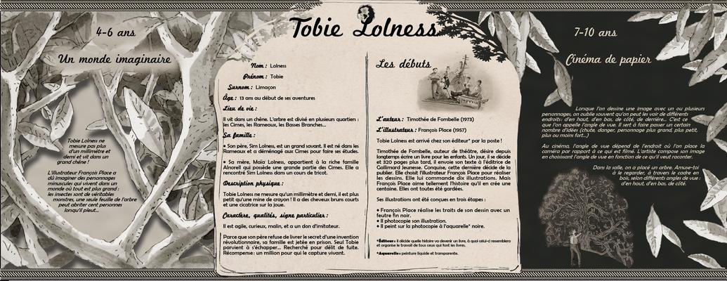 """visuel du module pédagogique """"Tobie Lolness"""", partie haute"""