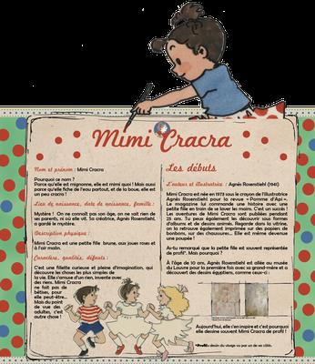 """visuel du module pédagogique """"Mimi Cracra"""", partie haute avec personnage découpé"""