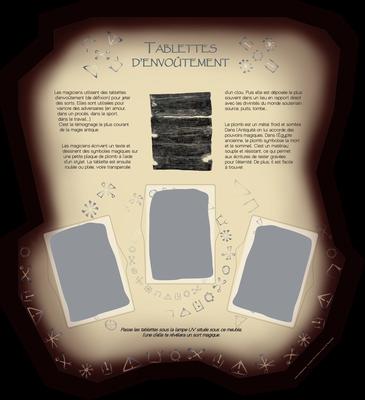 visuel pour module pédagogique avec emplacement pour encastrement de tablettes de plomb