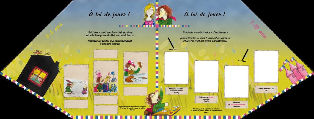 """visuel du module pédagogique """"Prince de Motordu"""", partie basse ou plateau avec manipulation"""