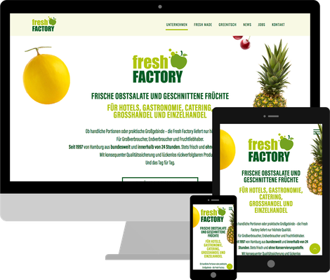 Jimdo Webdesign Fresh Factory