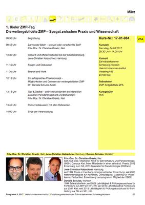 Programm ZMP Tag Kiel