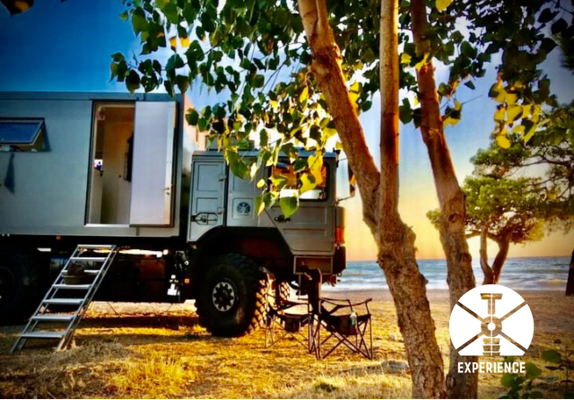 Sonne, Strand und Meer. Der Preis dafür ? Expeditionsmobile / Fernreisemobile kommen überall hin.