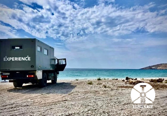 Unbezahlbar - priceless expedition vehicle travel experience while boondocking though europe along the beaches is freedom & independance