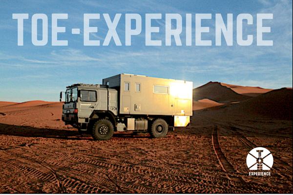 Toe-Experience unterwegs durch Marokko. Freedom & Independance im Expeditions-LKW. Overlanding erster Sahne durch funktionierende Technik