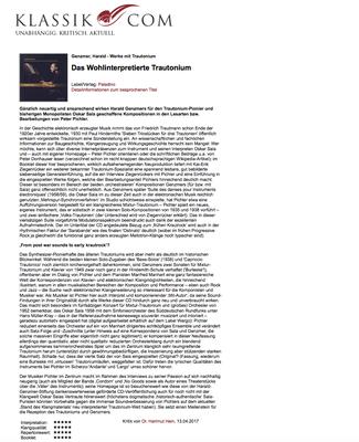 CD Rezension Trautonium auf klassik.com