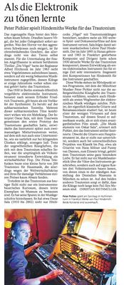 Peter Pichler in der Frankfurter Allgemeinen Zeitung