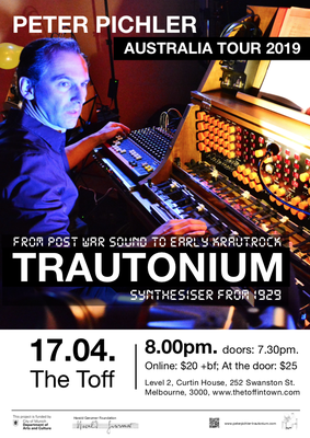 "Trautonium Concert at ""The Toff in Town"", Melbourne"