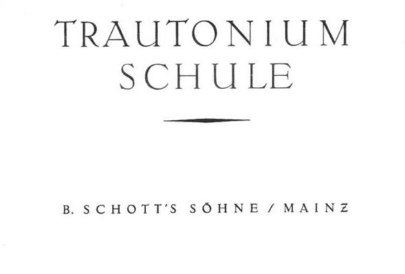 """""""Trautonium-Schule"""" (1933) von Friedrich Trautwein und Oskar Sala für den Trautonium Unterricht"""
