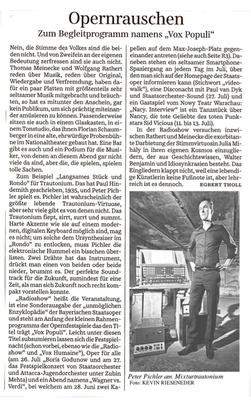 Peter Pichler in der Süddeutschen Zeitung