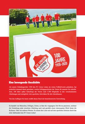100 Jahre Union Lohne - Rückseite des Covers