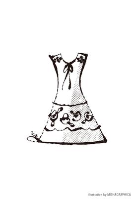 カット線画『ファッションアイテム04』