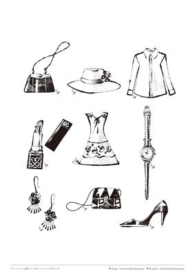 カット線画『ファッション小物シリーズ1』