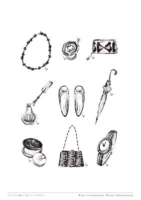 カット線画『ファッション小物シリーズ2』