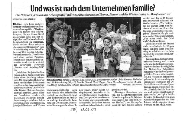 """""""Und was ist nach dem Unternehmen Familie"""" ?"""" (NW 2009)"""