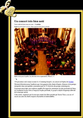 Siradan Concert de janvier 2015
