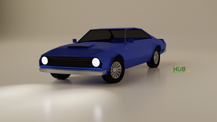 "Voiture ""Low poly"" (Blender)"