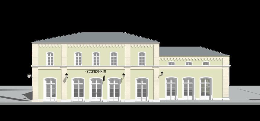 Bahnhof nach einer Ansicht um 1907