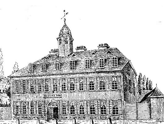 Pariser Hof (Zeichnung von Schäfer ohne Datum, verm. 20Jhdt)
