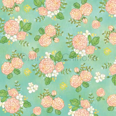 花柄パターンのイラスト