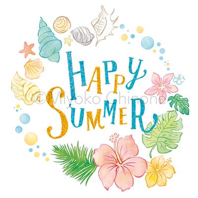 夏のモチーフのイラスト