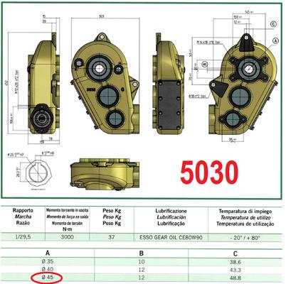 despiece spare parts catálogo UNI reductor