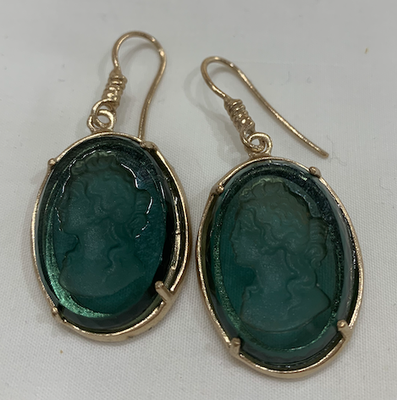 Orecchini Earring Oval Sea Green