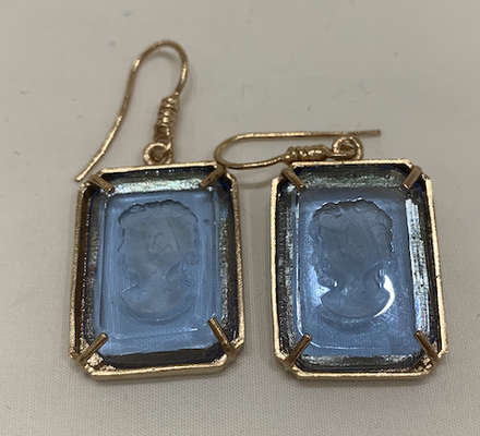 Orecchini Earring Hexagonal Blue