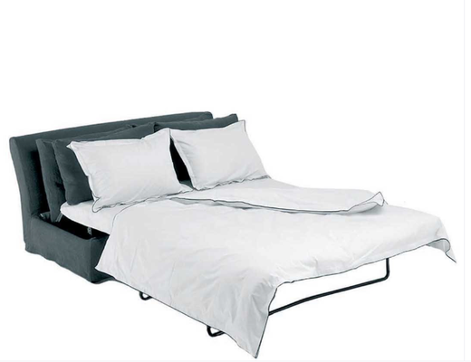 Extended as a bed in Prusse Linen Sauvage