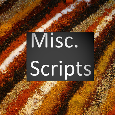 Misc. scripts