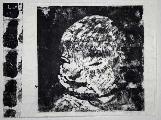 山口啓介 DU Childのcore       木版画によるモノタイプ、和紙  2005年