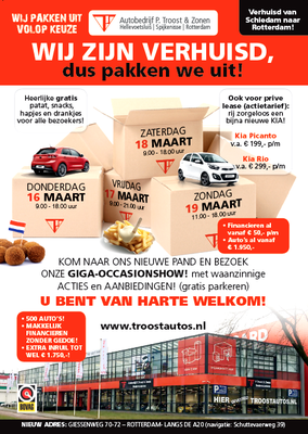 Direct Mailing - Automotive Sales Event - Troost Rotterdam - KIA - 151 verkochte auto's in 1 weekend