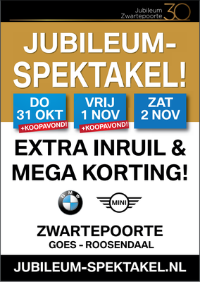 Buitenreclame - Automotive Sales Event - BMW-MINI Zwartepoorte Roosendaal & Goes - oktober-november 2019 - 40 verkochte auto's in 1 weekend