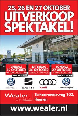 Buitenreclame - Automotive Sales Event - Wealer Heerlen - Volkswagen-Audi-SEAT-ŠKODA - oktober 2019 - 59 verkochte auto's in 1 weekend