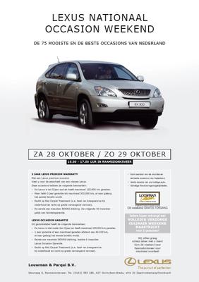 DM - Automotive Sales Event - Lexus Nederland / Louwman & Parqui