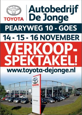 Buitenreclame - Automotive Sales Event - Toyota De Jonge Goes - november 2019 - 44 verkochte auto's in 1 weekend