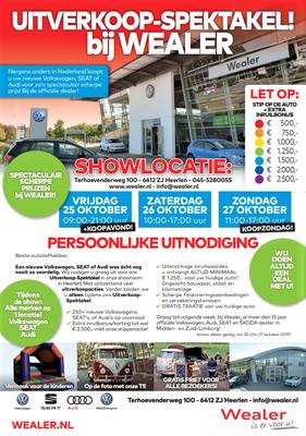 Direct Mailing - Automotive Sales Event - Wealer Heerlen - Volkswagen-Audi-SEAT-ŠKODA - oktober 2019