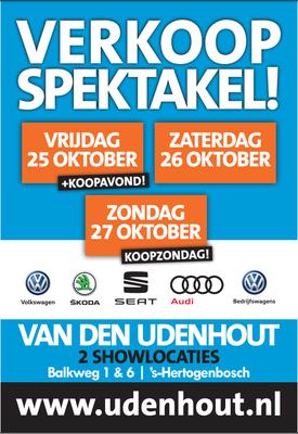 Buitenreclame - Automotive Sales Event - Van den Udenhout Den  Bosch - Volkswagen-Audi-SEAT-ŠKODA - oktober 2019 - 94 verkochte auto's in 1 weekend
