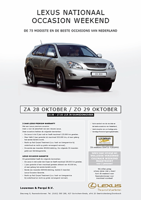 Direct Mailing - Automotive Sales Event - Lexus Nederland - 47 verkochte auto's in 1 weekend