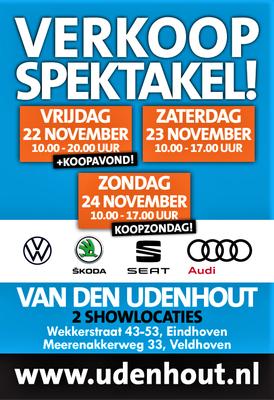 Buitenreclame - Automotive Sales Event - Van den Udenhout Eindhoven - Volkswagen-Audi-SEAT-ŠKODA - november 2019 - 118 verkochte auto's in 1 weekend